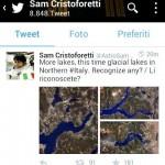 Il tweet di AstroSamantha
