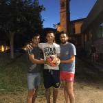 Francesco, Clemens e Paolo organizzatori dell'Asso League