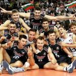 Gli Azzurri del volley dopo la vittoria contro la Bulgaria