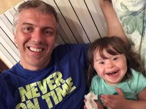 Guido con la piccola Anna